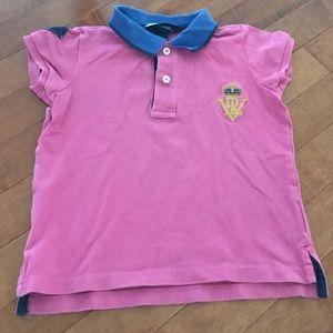 Ralph Lauren pink polo shirt.  Kid size 4/4T